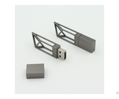 Iron Gray Tower Crane Shape Building Usb Pen Drive 8gb Real Estate Promotional Gifts