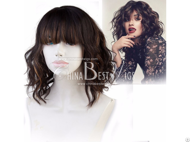 Wavy With Bang Outre Lace Front Wig