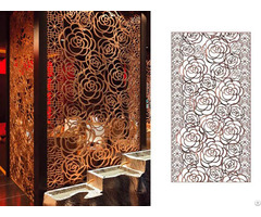 Laser Cut 304 Stainless Steel Screen Metal Partition