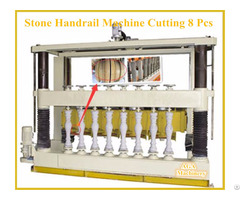 Multiblade Stone Cutting Machine For Fabricating Pillar Balustrade Handrail