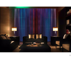 Motorized Decorative Curtains With Led
