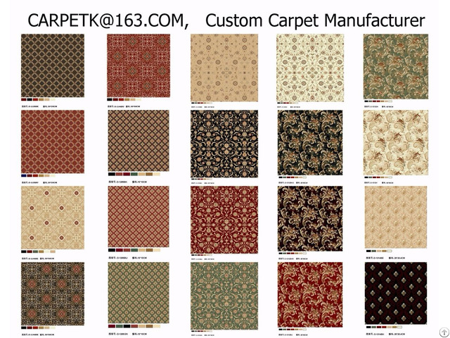 China Custom Oem Odm Axminster Wilton Hand Tufted Printed Carpets Rugs Tiles For Hotel Home Ship