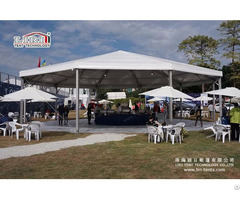 White Roof 16m Decagonal Middle East Circus Tents For Sale