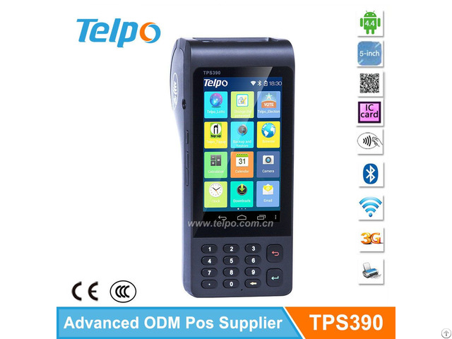 Telepower Tps390 Handheld Keypad Jave Tablet Nfc Edc Pos Machine