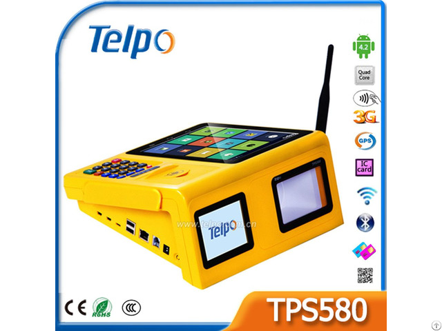 Telpo Tps580 Electronic Data Capture Android Desktop Point Of Terminal