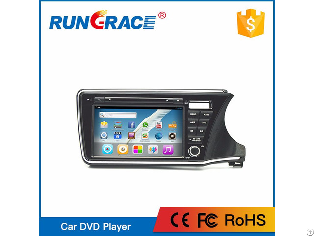 Android Interface Car Radio Gps Navigation Bt Usb For Honda City