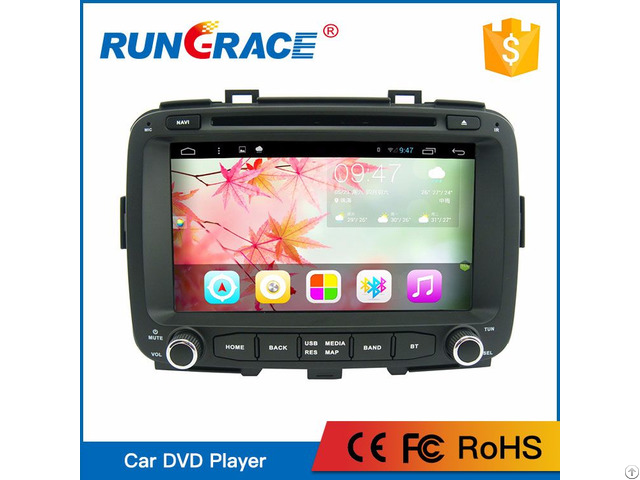 Rungrace Manufacturer 8 Inch Android 6 0 Multimedia Car Audio For Kia Carens
