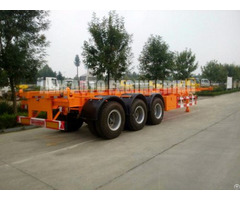 Container Carrier Transport Semi Trailer