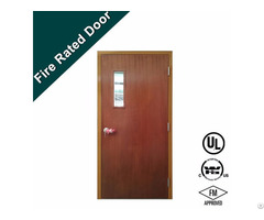 Laminate Surfcae 90 Mins Fire Rated Louvered Wooden Door