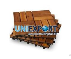 Interlocking Decorative Outdoor Wood Deck Tile