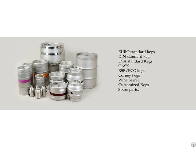 Stainless Steel Beer Or Beverage Keg And Cask