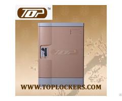 Four Tier Abs Plastic Locker Multiple Locking Options