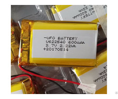 Rechargeable Li Ion Polymer Battery 600mah 3 7v 622540 With Pcm