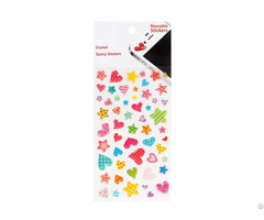 Reusable Cartoon Stars Heart Mobile Phone Stickers