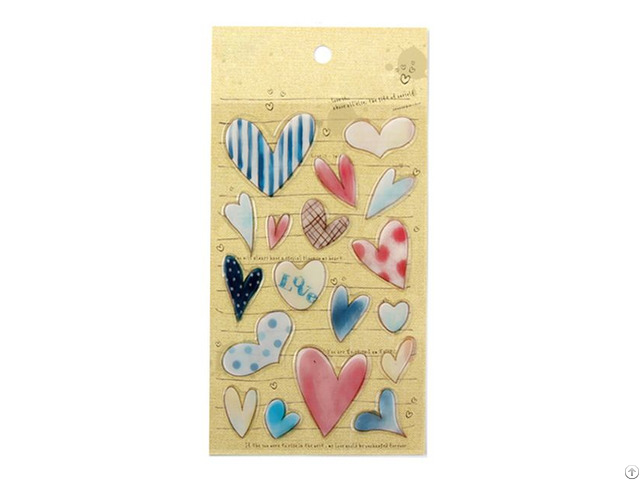 Heart Love 3d Resin Stickers 18 Pcs