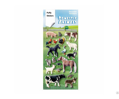 Farm Horse Cow Lamb Animal Learning Puffy Stickers