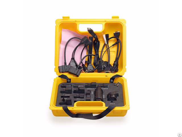 Launch X431 Diagun Iv Case With Full Set Cables And Adapters Yellow Box