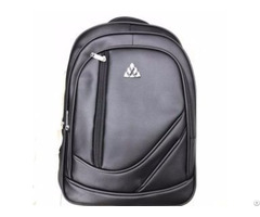 Business Pu Leather Backpack 15 6 Inch Notebook Computer Accessory Laptop Bag For College Travel