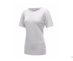 Short Sleeve Round Neck Cotton Tri Blend Summer T Shirt Top