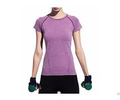 Womens Ladies Girls Quick Dry Slim Sport T Shirt Training Top