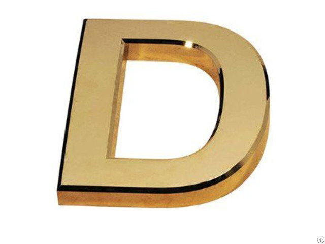 Plastic Abs Letter Badge Molding Ps Hdpe Gold Plating