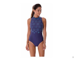 Women S Printed High Neck Maillot Athletic Training One Piece