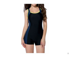 Women S One Piece Swimsuit Boyleg Sports Swimwear