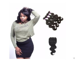 Brazilian Body Wave Hair Weave With Lace Closure 3 Bundles