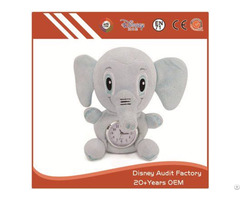 Elephant Toy Alarm Custom Color 20cm Filling 100% Pp Cotton