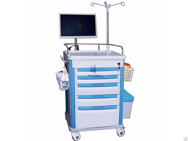 Assembled Wireless Nursing Computer Trolley