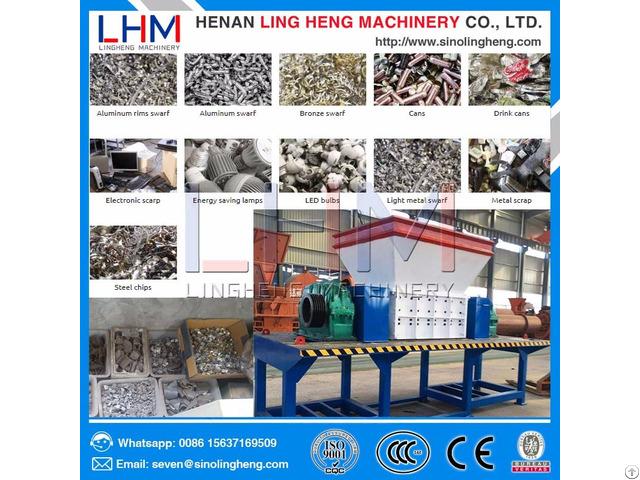 Plastic Bottles Shredder Waste Shredding Recycling Machine