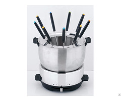 Electric Multi Function Hot Pot Stainless Steel Fondue Set