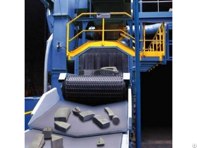 Belt Shot Blasting Machine With Metal Wire Mesh Conveyor