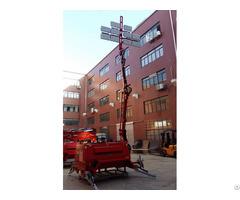 Ten Led Heads Lamps Lighting Tower Hydraulic Foldable Mast Applied Servo Motor Double Wheels