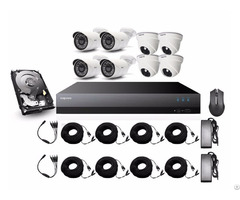 Mapesen 8ch 1080p 2 0mp Outdoor And Indoor Camera With Xvr Diy Kit
