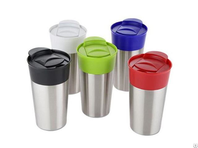 Stainless Steel Outer Plastic Inner Mug