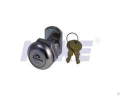 Flat Key Cam Lock Zinc Alloy Shiny Chrome