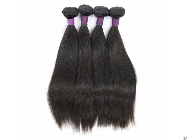 Unprocessed Malaysian Straight Hair Weave 3 Bundles