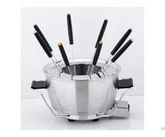 Le Creuset Fondue Set With 6 Forks And Party Serving Tray