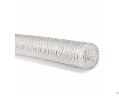 Type Tspo Transparent Stainless Steel Helix And Polyester Fiber Braid Reinforced Silicone Hose