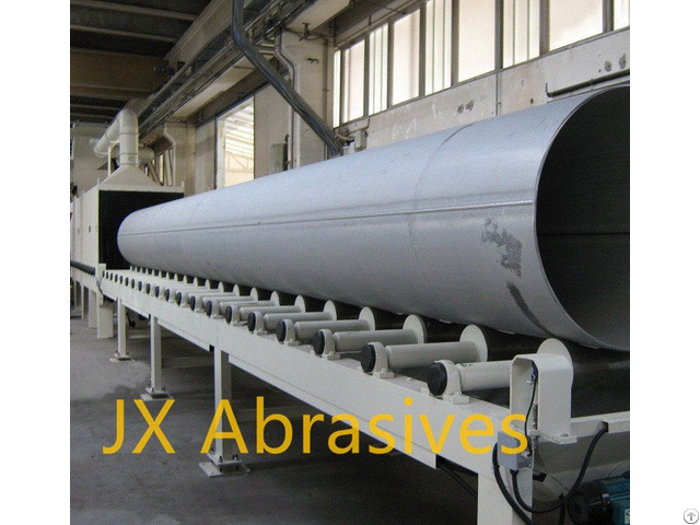 Steel Pipe Outer Wall Shot Blasting Machine With Roller Conveyor
