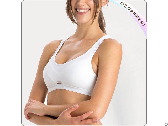 Women White Exercise Bra