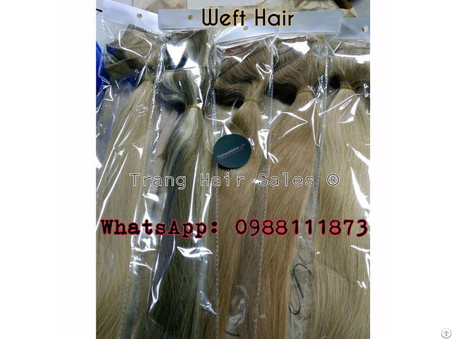 Super Double Drawn Remy Weft Hair Full Cuticle No Chemicals Dyeable