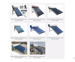 Compact Heat Pipe Solar Water Heater