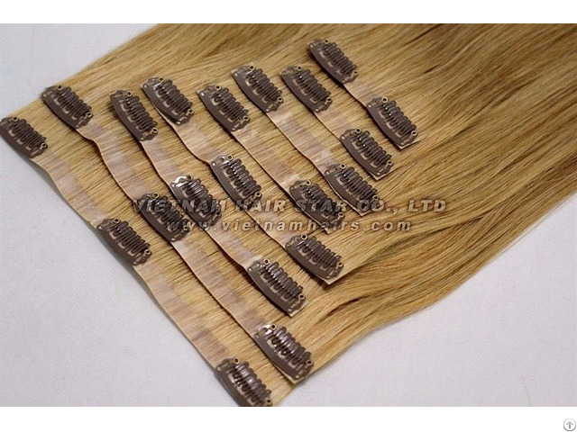 Pu Clip In Hair Extensions Wholesale Price Top Best Quality Gold Supplier