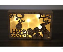 Wholesale Hanging Eco Friendly Wooden Christmas Decoration Led Light Box