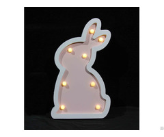 Customized Battery Rabbit Lamp Kids Baby Light Holiday Decorative Gift