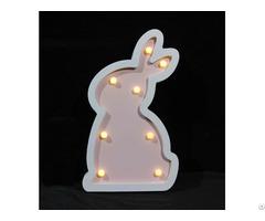 Customized Battery Rabbit Lamp Kids Baby Light Holiday Decorative Gift