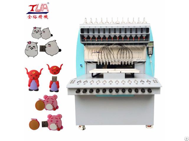 Full Automatic Pvc Plastic Usb Case 8 Color Dispensing Machine