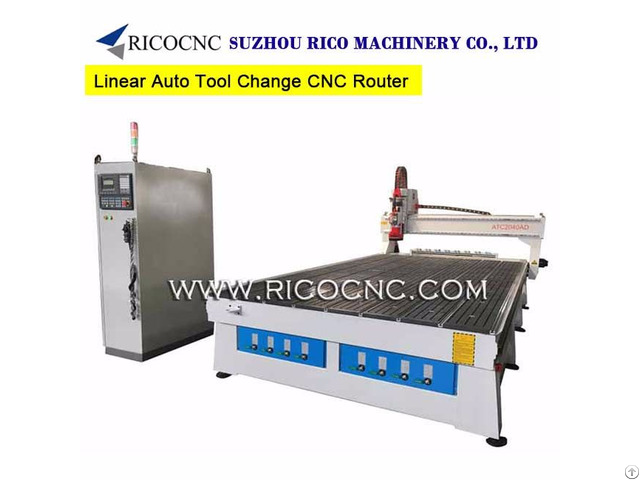 Linear Auto Tool Change Cnc Router With Italy Hsd Spindle Atc2040ad